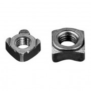 Metric Coarse Square Weld Nut Deep Collar Steel DIN928