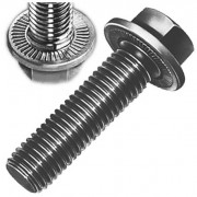 Metric Coarse Durlok Hexagon Flange Bolt Serrated Underhead Grade-12.9
