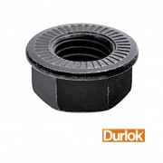 Metric Coarse Serrated Hexagon Flange Nut Durlok Steel Class 12