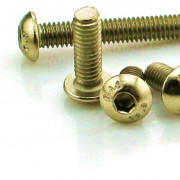 Metric Coarse Socket Button Head Screw Brass ISO7380
