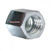 Metric Coarse Coupling Nut Short Steel