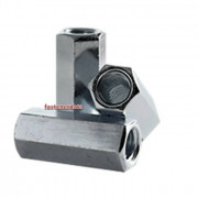 Metric Coarse Reducing Coupling Nut Steel