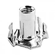Hopper Feed 4 prong Tee Nut Steel Inch