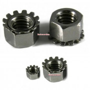 Metric Coarse Keps Lock Nut Steel