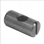Metric Coarse Barrel Nut with Slot , Cross Dowel Steel