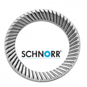 schnorr Metric Conical Ribbed Locking Washer S Light Stainless-Steel X5CrNi18-10 1-4301