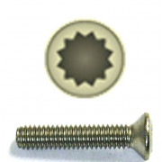 Metric Coarse 12 Point Internal Drive Raised Countersunk Steel screw DIN34821