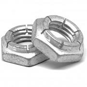 Metric Coarse Flexloc Nut Thin Height Steel