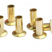 Inch Countersunk Semi Tubular Rivets Brass BS3575