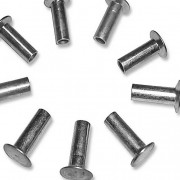 Inch 150 deg Flat Countersunk Semi Tubular Rivets Steel ANSI B18.7