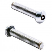 Metric Coarse Seal Screw Socket Button with Security Pin