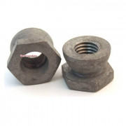 Metric Coarse Shear Nut Galvanised Steel