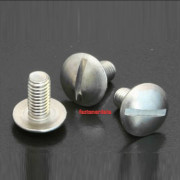 Metric Coarse Slotted Flat Mushroom Head screw Steel DIN58450