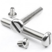 Metric Coarse Slotted Pan Head Machine Screw Stainless-Steel-A2 DIN85
