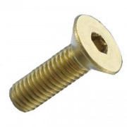 Metric Coarse Socket Countersunk Screw Brass DIN7991