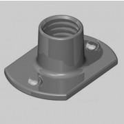 Metric Coarse Tee Nut Slab Base 2 Upper Weld Pips Mild Steel