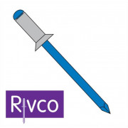 Rivco Blind Rivet Countersunk Head Aluminium Body Steel Mandrel AKS