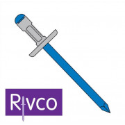 Rivco Multigrip Rivet Large Flange Aluminium Body Steel Mandrel AFM