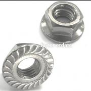 UNC Serrated Hexagon Flange Nut Steel Case-Hard SAE-5 IFI145