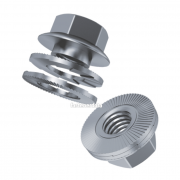 Metric Course pitch Wedge Locking Nut steel Class-8 Delta Protekt KL100 Silver