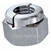 UNC Aerotight All Metal Locking Nut Thick Stainless-Steel-A4