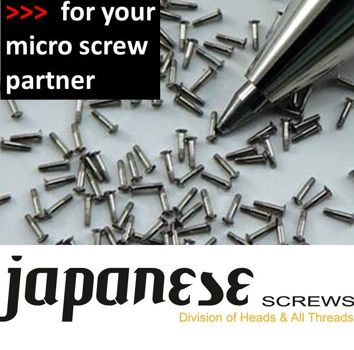 JAPANESE MICRO SCREWS HEADS ALLTHREADS