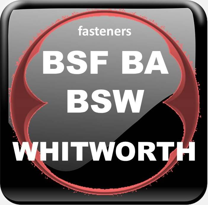 BSW BSF BA WHITWORTH FASTENERS