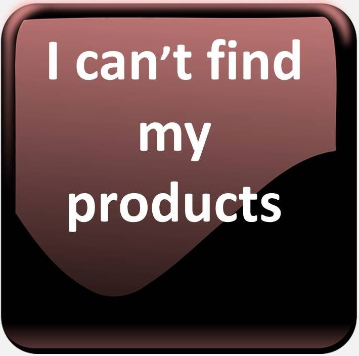 i cant find my products