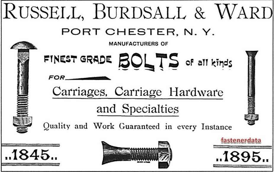 1895 CARRIAGE BOLTS