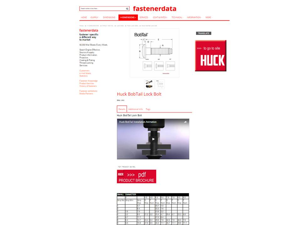 SHOW CASE FASTENERS